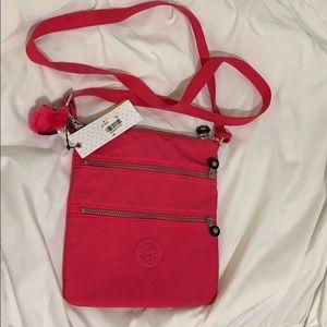 Kipling Vibrant Pink Satchel Bag